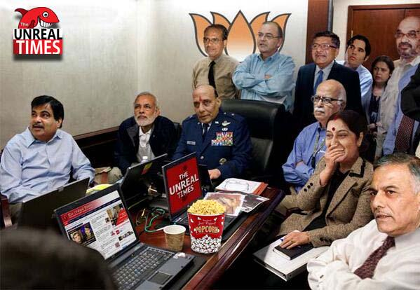 Meanwhile, this is how BJP is following the #WarInAAP... http://t.co/I4aT5p65DL