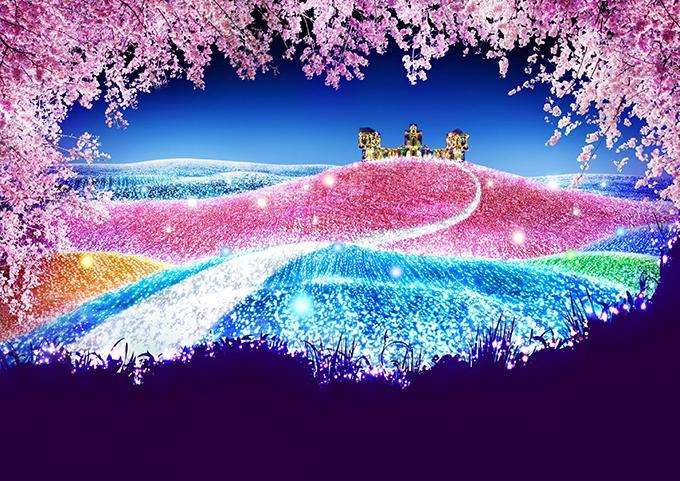 神奈川「さがみ湖イルミリオン」で夜桜イルミネーション開催 - 約2,000本の桜と光の競演 - fashion-press.net/news/13633 pic.twitter.com/A1ZRyKDb96