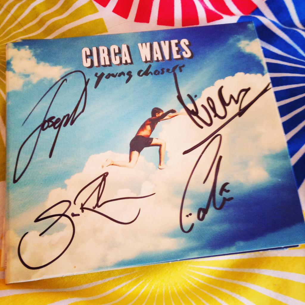Circa Waves Young Chasers signed album cover artwork