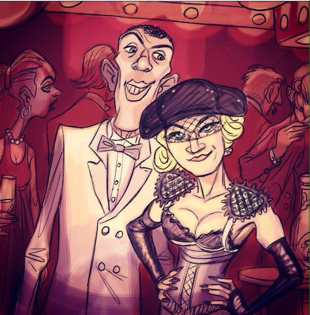 Soirée VIP avec @Stromae et @Madonna !  Encore plus de champagne sur son compte @instagram : http://t.co/eUu9vtEURD http://t.co/r0y7qDFQkf