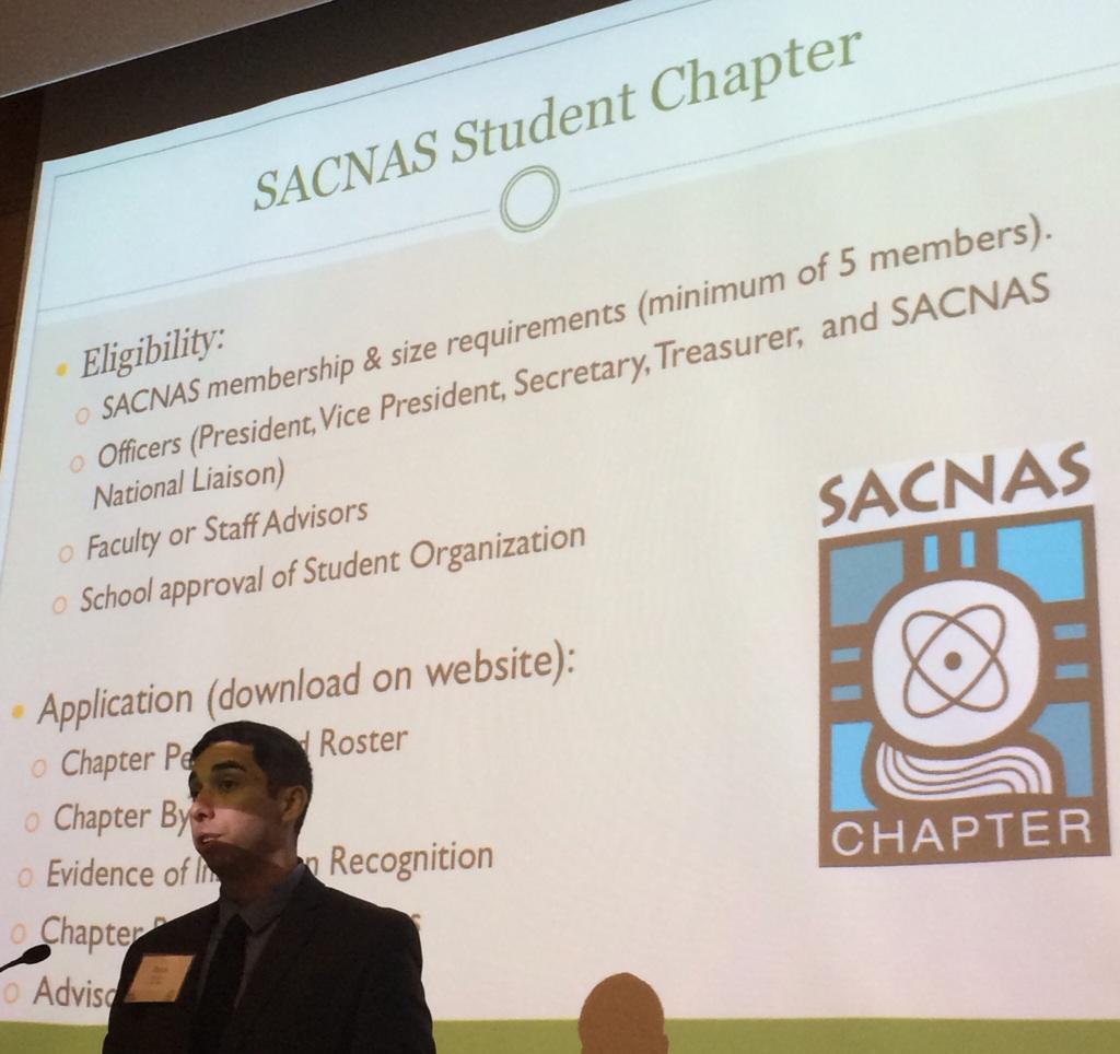 #SACNASboston: staff Rene Moreno describing @SACNAS chapters http://t.co/wV3qtaHesV http://t.co/xR489UGbgI