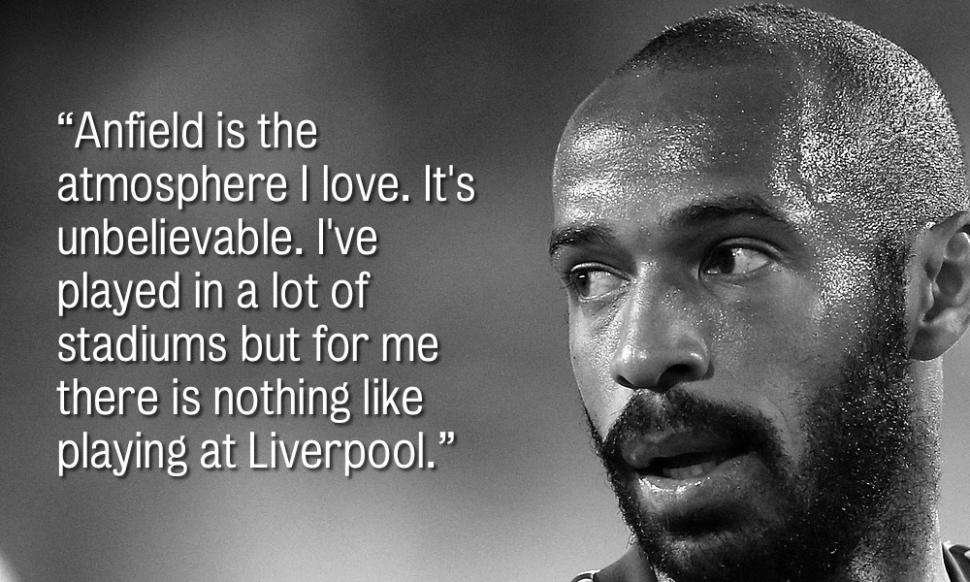 Six quotes from Thierry Henry on his respect for Liverpool FC #LFC http://t.co/nAmHJw2p3g http://t.co/uMw3Fou8r7