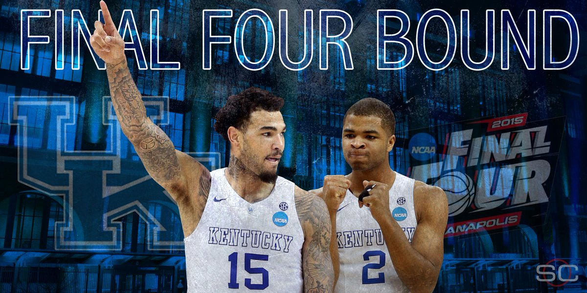Wildcats survive! 1-seed Kentucky holds on in final seconds to beat 3-seed Notre Dame, 68-66, improves to 38-0.