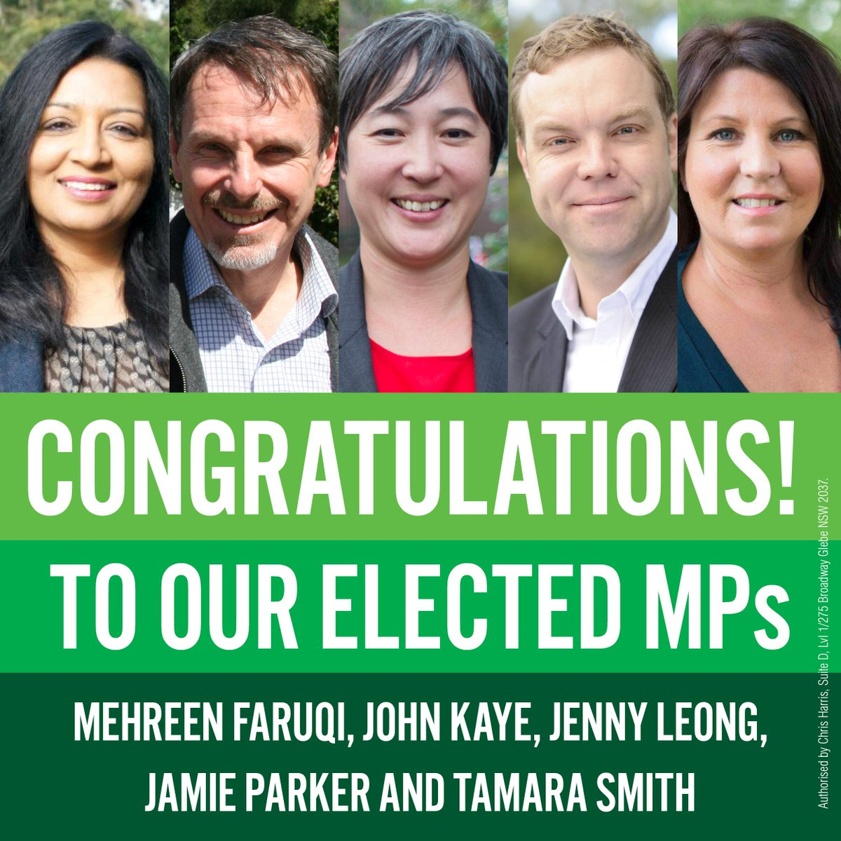 Congrats to @JennyLeong, @GreensJamieP, @GreensTamara, @JohnKGreens & @MehreenFaruqi! Too close to call 4 @GreenGuise http://t.co/Q2LiGMcusq