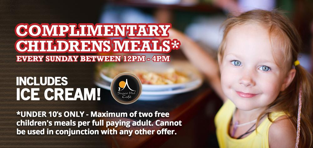 We offer complimentary children's meals @SugarHutCafe Every Sunday http://t.co/SEr7QmD0nG