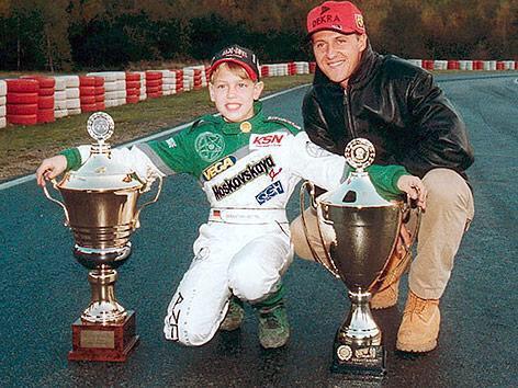 FOTO Sebastian Vettel con Michael Schumacher qualche anno fa