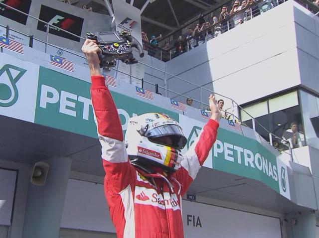 Formula 1: Sebastian Vettel trionfa in Malesia, è grande Ferrari