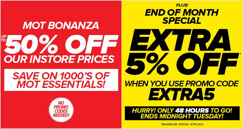 Euro Car Parts On Twitter Hurry Mot Bonanza With Extra 5 Off