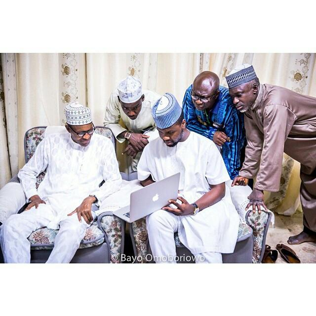 GMB checking through reactions online with @DebolaLagos. #Nigeriadecides #GMB15 [PIC]
