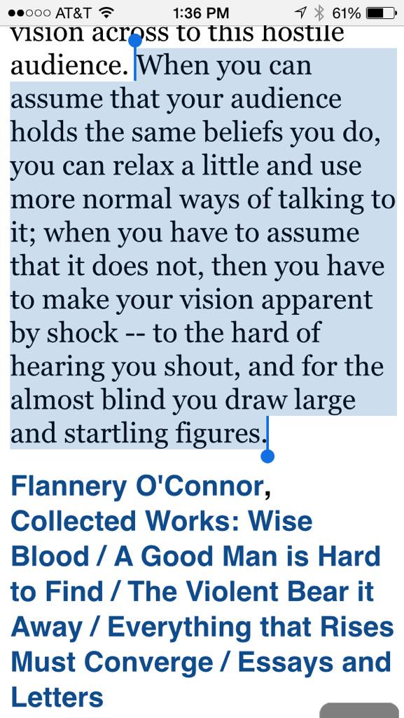 Flannery O'Connor explains why #BlackBrunchATL tactics are necessary. Want them to go away? Then listen. http://t.co/oE2PWmqf8I