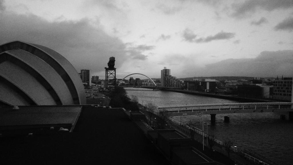 The sun sets over the Clyde in Glasgow; #uksg15 begins tomorrow http://t.co/d3AkUPlIAn
