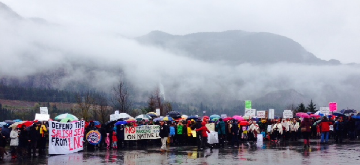 Protest in Squamish