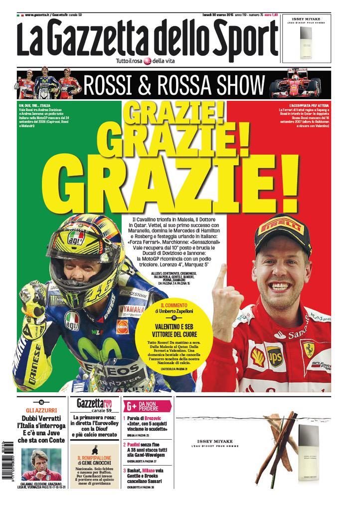 Retof1 Di Twitter Portada De La Gazzetta Dello Sport F1 Motogp Italia Http T Co 5xxv63lajz