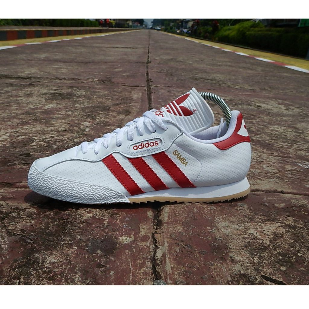 Adidas Samba Super. White-Red Leather