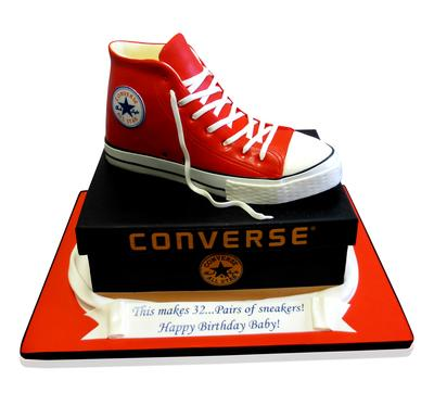 CMNY Cakes On Twitter Converse All Star Shoe Cake Httptco - All star birthday cake