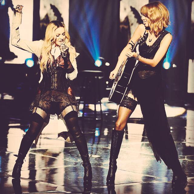 """When it all falls down, we'll be two souls in a ghost town..""  *ugly cries forever*  #MadonnaAndTaylor http://t.co/7iTiqvKmQL"