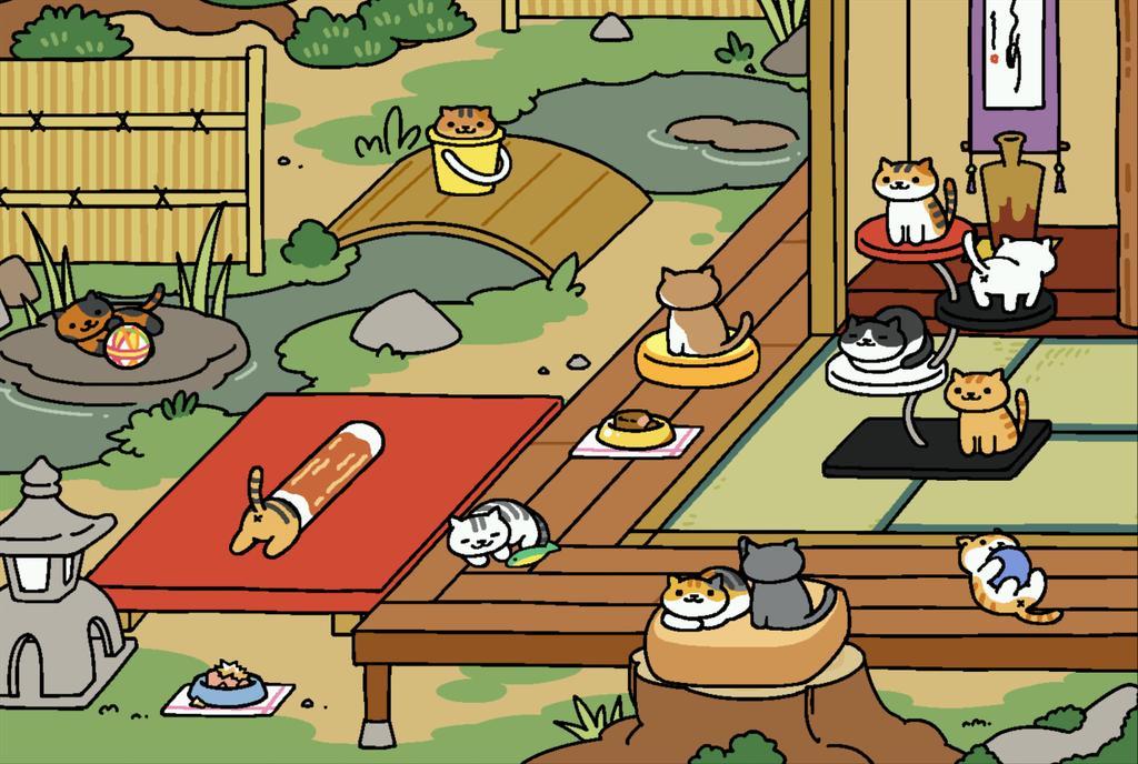 至極の癒し★ 猫を集めるだけのアプリ「ねこあつめ」にハマる人が急増中