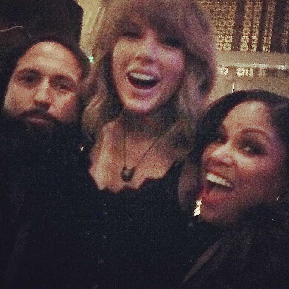 Me, @taylorswift13 & @nickirichards after playing the #iHeartAwards ! - We all had a great time.❤️ She's awesome. http://t.co/BahqLeMlk5