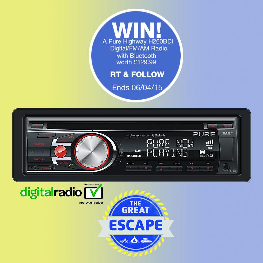 #Competition! RT & follow to win a Pure DAB car radio to 'jazz' up your Easter #GreatEscape  http://t.co/CKpjOy0NUb http://t.co/1mQ3pHThEY