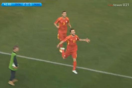 Pivkovski (11) celebrates his goal