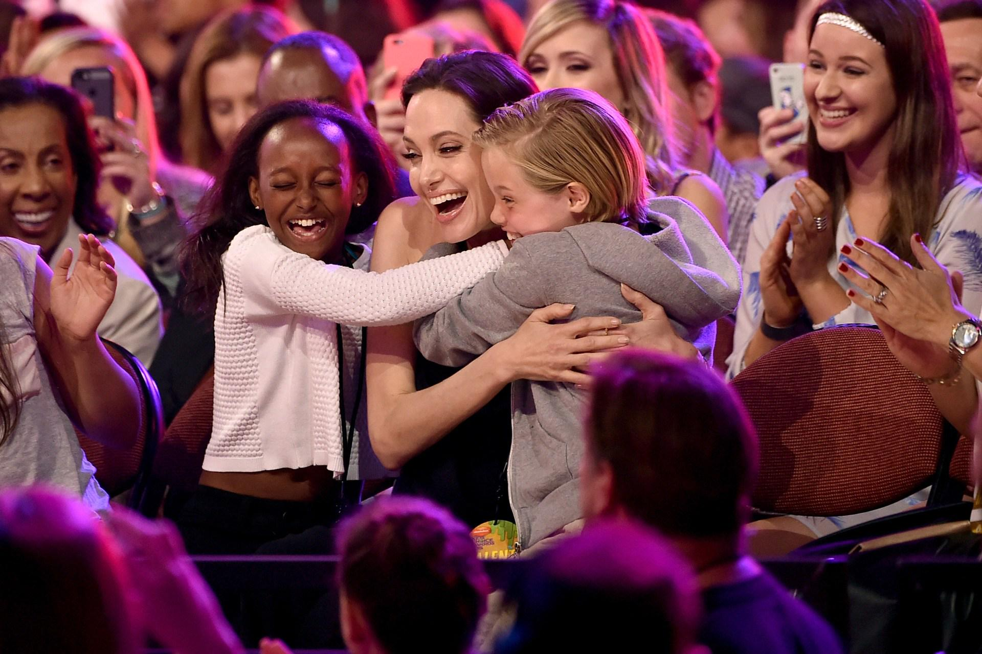 Angelina Jolie returns to the public eye, for a very happy occasion: http://t.co/aSuzY6kw7c http://t.co/NXDa3wN2RS