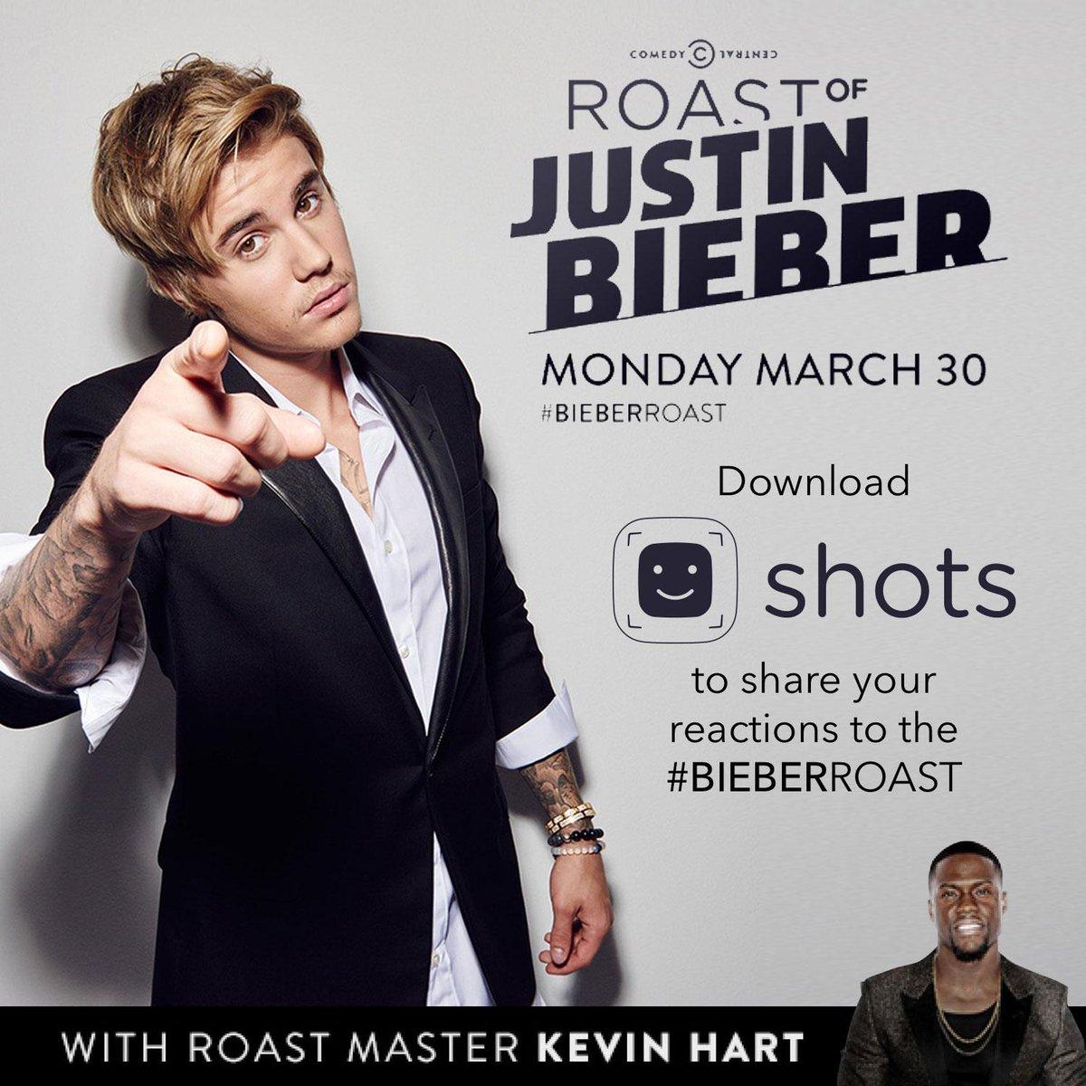 #BIEBERROAST is tonight! Share your reactions on @Shots!! http://t.co/9tSCiZlkoU