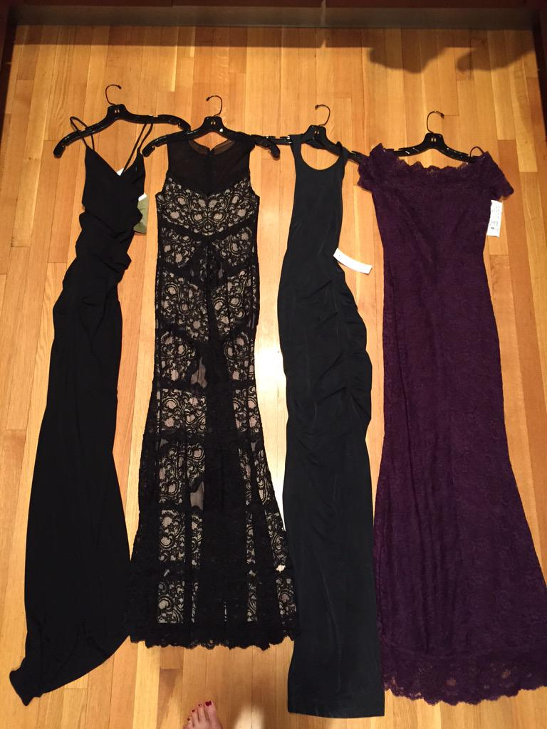Okay, I'll let you guys pick: which fabulous @NicoleMillerNYC dress do I wear to the Fashion Awards 2.0 http://t.co/DDNuSEoWVg