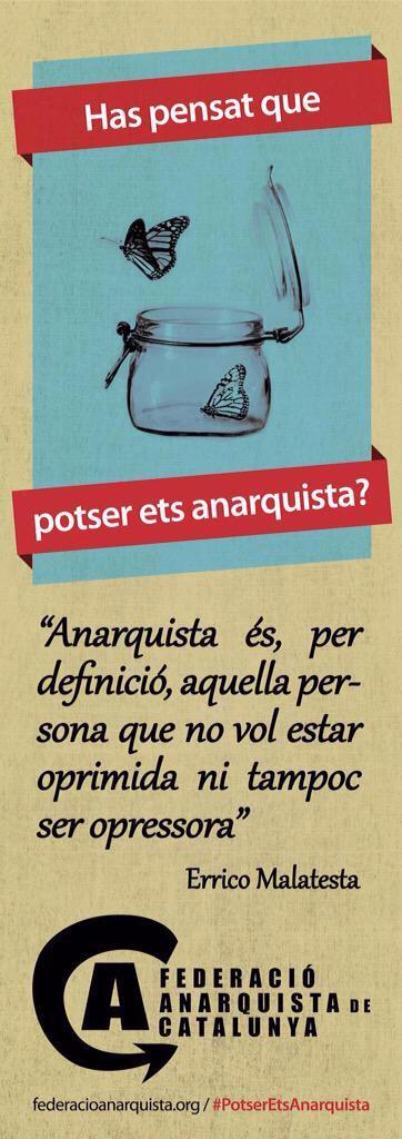 Inicien campanya #PotserEtsAnarquista y detenen a 12 persones acusades de formar part del GCA! #AtaqueaLosCSOAs http://t.co/9IobqqrzIh