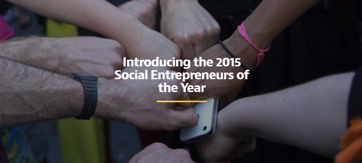 Introducing the 2015 social entrepreneurs of the year http://t.co/hJI1k99vUa @Medium #SEOY15 http://t.co/49TTN3LxIM