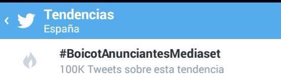 #BoicotAnunciantesMediaset si somos 5 o 6... Gracias!!! Juntos somos imparables!!! http://t.co/Xs4aN9pMwg