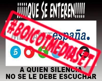 RT tachin411956: #BoicotAnunciantesMediaset  #BoicotAMediaset  #apagontotal http://t.co/ONtExFm7ud