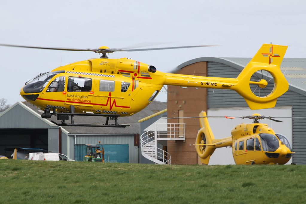 EC145 T2 G-HEMC was delivered to @EastAngliAirAmb at Cambridge this afternoon. http://t.co/EJINolfV51