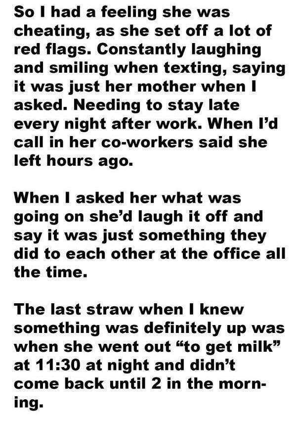 Caught cheating stories