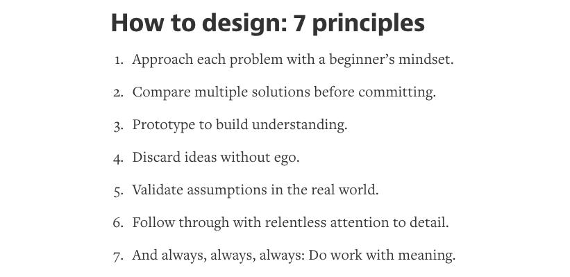How to design: 7 principles https://t.co/cI9Zl6pQHl http://t.co/vztxN7zA5a