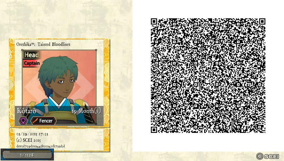 QR Codes to go - Oreshika: Tainted Bloodlines Message Board
