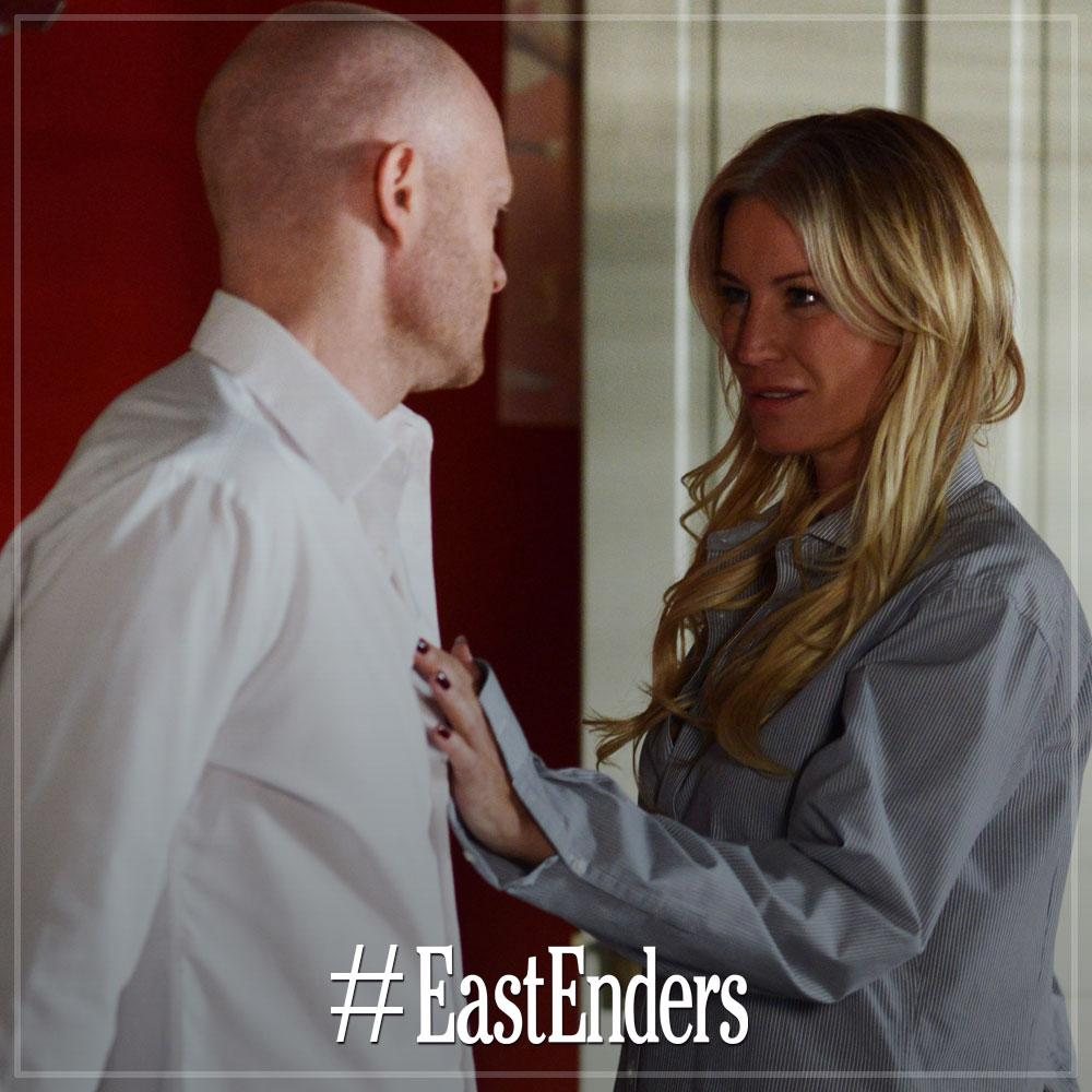 RT @bbceastenders: 2nd pic of @denise_vanouten & *gasps* @mrjakedwood getting shirty in actual #EastEnders.   Oh la la...  2 of 2 http://t.…