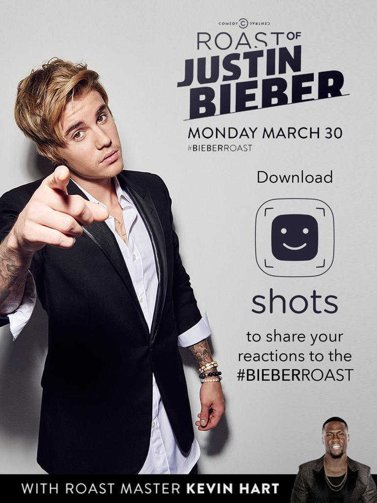 I want to see your reactions to the #BieberRoast on @shots tonight! http://t.co/J83RppBPPy