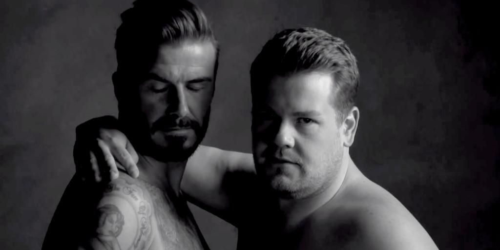 David Beckham & James Corden give us a *new* take on underwear modeling: http://t.co/qMeNaKwVaS http://t.co/NOr37t61eY