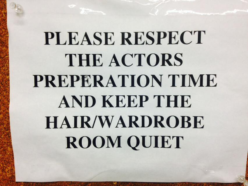 Also, re this sign, have to say......As IF!!! #actorswillunderstand http://t.co/KbG18j68kt