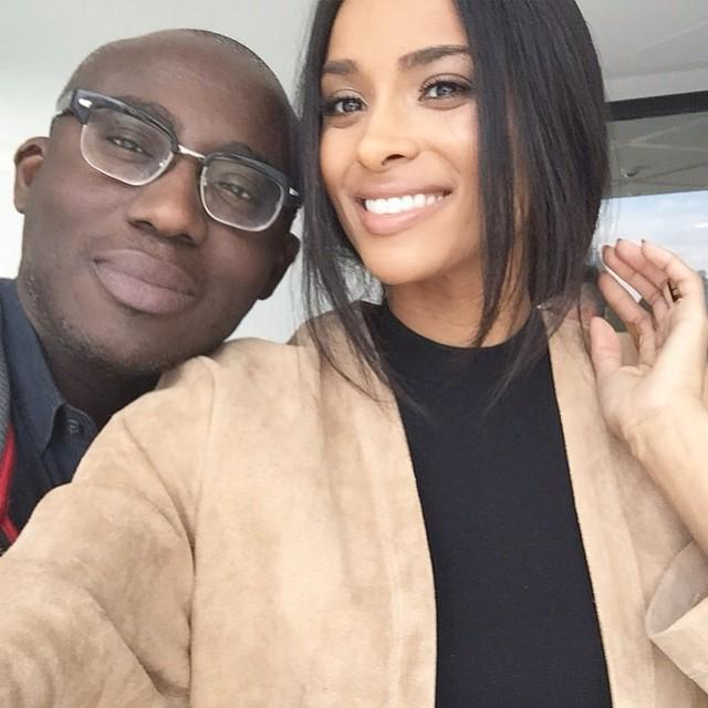 RT @Edward_Enninful: Spent the afternoon with this talented beauty @ciara. Thank you for playing your new album at @wmag.. LOVED IT xoxo… h…