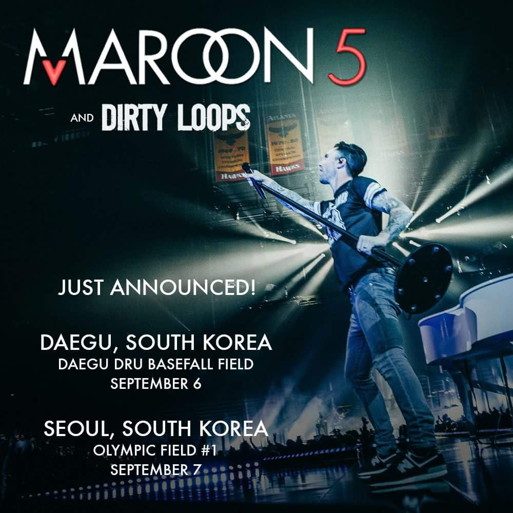 South Korea. We're coming back #Maroon5SK http://t.co/ZuCAWRbUL6