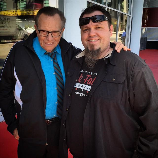 Do you follow @TheRockFather? You certainly should! He was shooting something w/@kingsthings last week #LKCollectors http://t.co/Rz8W0p2zLy