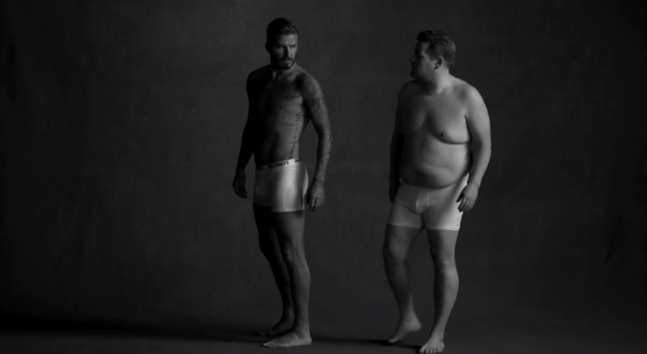 MUST WATCH: You have to see #DavidBeckham's new underwear ad!  #JamesCorden, you stud! http://t.co/UqYf74gUsI http://t.co/pwj2az8roh