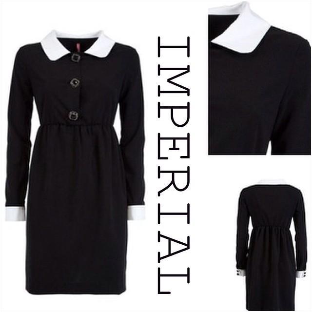 черное платье с белым воротником где выбрать в москве купить
