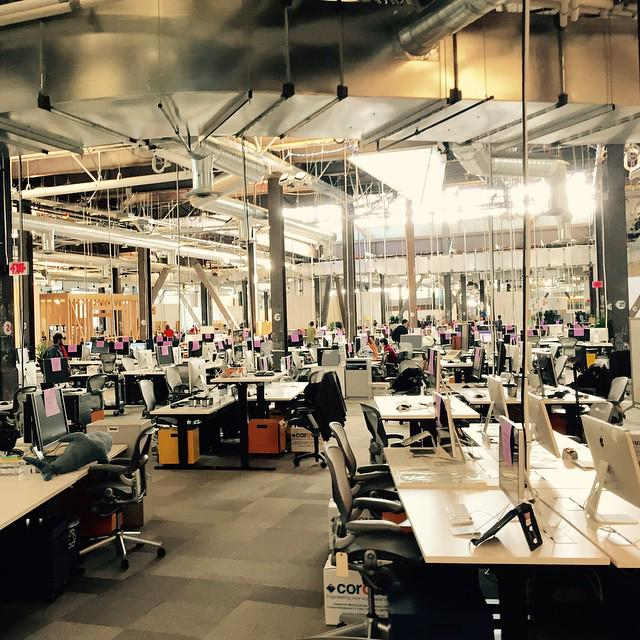 """@ptone: Two views of new facebook offices. http://t.co/8sojqizg8Q"""