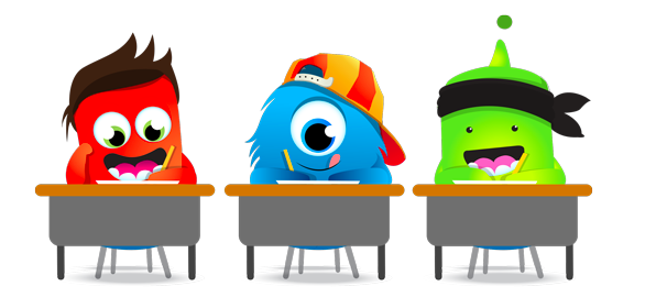 ClassDojo Monsters at Desks
