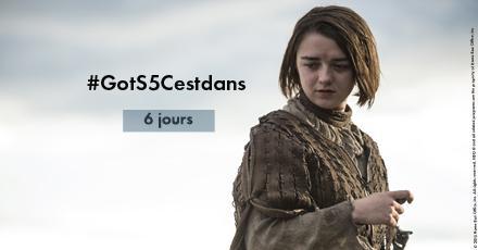 #GOTS5CestDans 6 jours sur @OCSTV et @Canalsat ! Choisissez votre compte à rebours sur : http://t.co/AyASPedouM ! ;) http://t.co/6BOhw0PAOz