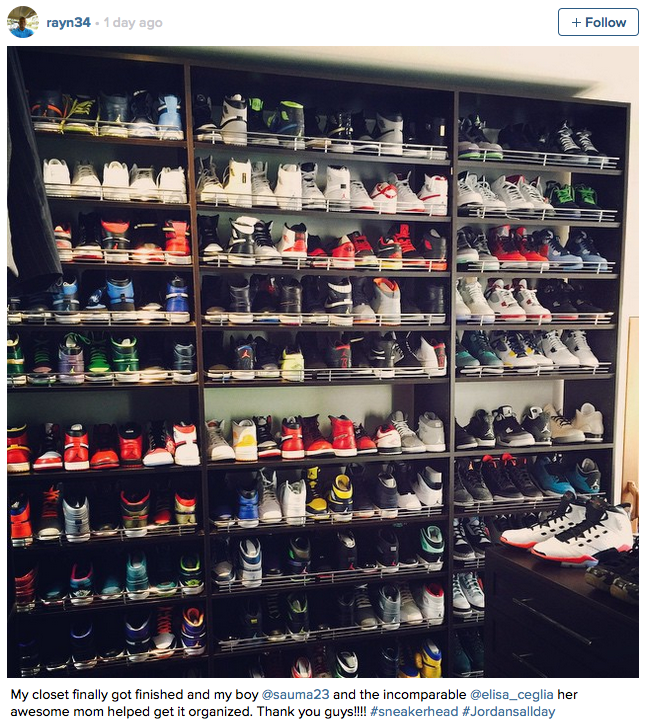 Basketball Star Ray Allen Impresses Fans On Instagram With Massive Shoe Collection