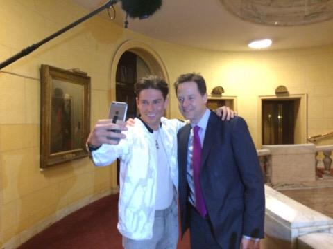 Here's whatsisname who really hasn't got anything to say about the election worth hearing with Joey Essex. http://t.co/1uYdXSuONB