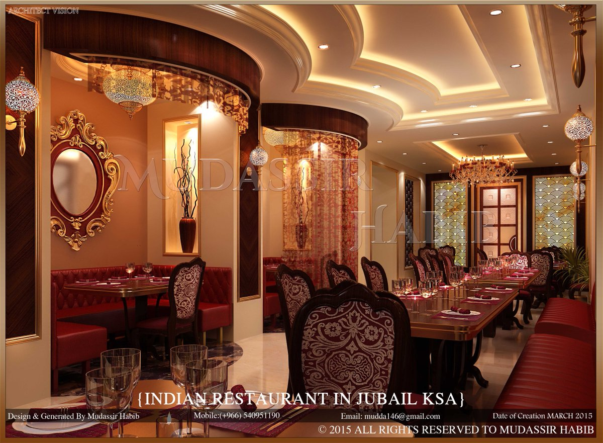 Mudassir shaikh on twitter indian restaurant ethnic for Indian restaurant interior design ideas